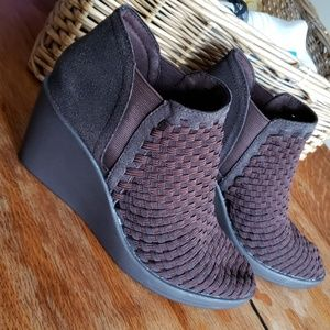 Steve Madden Woven Ankle Boots sz 7.5 Brown
